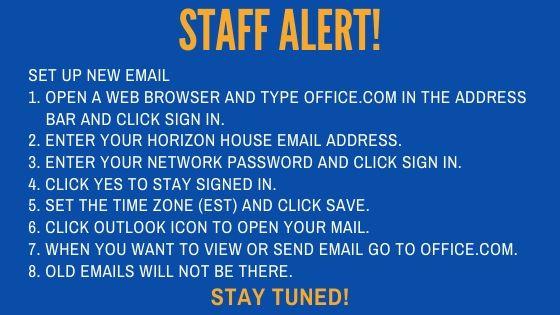 Staff Email Update